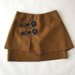 Meadow Rue Side buckle soft felt skirt